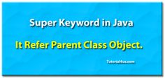 Super Keyword in Java