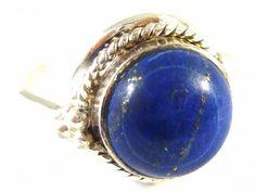 Silver ring with lapis lazuli (Stříbrný prsten s lapis lazuli) #ring #lapislazuli