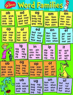 Dr. Seuss Activities - Word Families:
