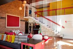 Googmaps idea --- Another fun and colorful office design by Agustina Bottinelli