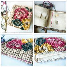 embroidered crochet pin book ~ The Yarn Bunny UK