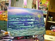 La mer - acrylique sur toile 50/70 cm