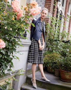 Window dressing. Our J.Crew women's designers created this geometric print by layering two different styles of windowpane checks—first popularized by the Duke of Windsor in the 1920s—on top of each other.