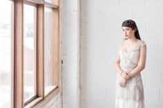 Sally Rose White Label Lumiere Collection   Photographer: Tony Evans / Bride's Dress: Gwendolynne / Jewels: Sally Rose White Label / Floral: Bespoke Botanics