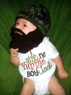 If i have a boy.Camo Baby Beard Beanie You Choose Size and Colors Dillon Dillon Dillon Emfinger Powers Powers Powers Stone Cute Kids, Cute Babies, Baby Kids, Duck Dynasty Baby, Just In Case, Just For You, Beard Beanie, Baby Leopard, My Bebe