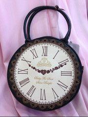 Japan Vintage Embroidery Illustration Clock Round 2 Way Bag Cute Handbags, Cheap Handbags, Vintage Handbags, Real Costumes, Quirky Fashion, Round Bag, Vintage Embroidery, Vintage Inspired, Shoulder Bag