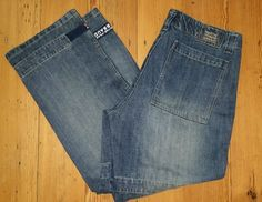 Marithe Francois Girbaud 38 Mens Shuttle Tape Denim Cargo Jeans   #MaritheFrancoisGirbaud #BaggyLoose