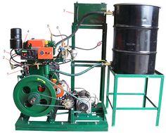 Vegetable Oil Lister Type Generator 6,600 Watt - Runs on straight vegetable oil