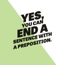 Ending a Sentence With a Preposition