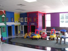 Garage turned play room! This looks like so much fun!