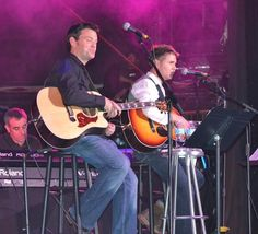 Ryan and Neil doing their Celtic Thunder cruise Acoustic by Candlelight gig - Nov 2013