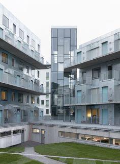 joliark constructs metallic apartment complex in stockholm, sweden - designboom   architecture