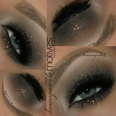 All you need 3 Shades, some liner & Glitter!