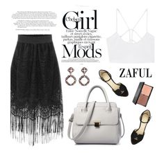 """Zaful 33/5"" by merima-kopic ❤ liked on Polyvore featuring MANGO, Charlotte Olympia, blacklUp and zaful"