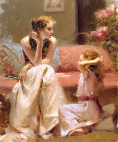 think of you painting by pino daeni