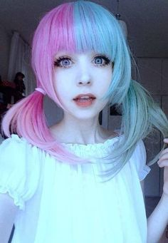 Pastel Goth Queen More hair inspiration at: http://www.hairchalk.co/ #haircolor #hairdye #hairchalk