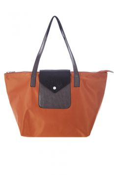 Bags :: Poppy Ultra-Light Shopper Orange - The Redletter Club $89.95