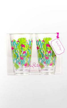 Acrylic Glasses #lillyholiday