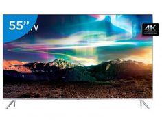 """Smart TV LED 55"""" Samsung 4K/Ultra SUHD 55KS7000 - Conversor Digital Wi-Fi 4 HDMI 3 USB Com a Tv SUHD UN55KS7000 da Samsung você vai experimentar a incrível qualidade de imagem 4 vezes superior ao Full HD.As imagens tem cores, brilho e contraste tão ricas que parecem a vida real. Seu acabamento perfeito e o design 360° garantem sofisticação de todos os ângulos. Os detalhes vão além da espessura ultrafina. Elegante, sofisticada e fina, não possui bordas e fios aparentes resultando em um novo…"""