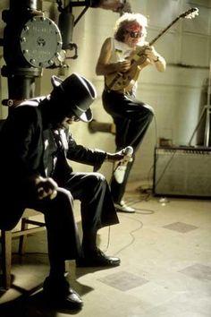 "John Lee Hooker and Carlos Santana (""John Lee Hooker is the funkiest man alive"" -Miles Davis) that's high praise."