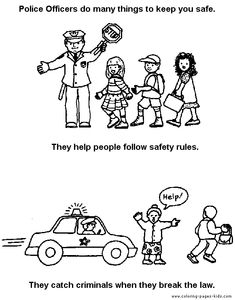 community helper police coloring page 2
