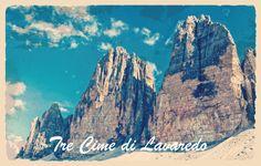 tre cime lavaredo postcard cartolina