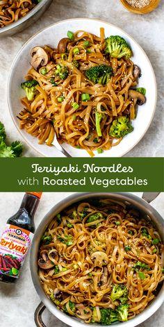 Tasty Vegetarian Recipes, Vegan Dinner Recipes, Vegan Dinners, Veggie Recipes, Asian Recipes, Cooking Recipes, Healthy Recipes, Tasty Meals, Noodle Recipes