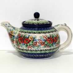 Hand painted and stamped teapot by Maria Staryk.