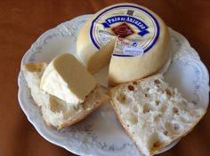 """A typical galician """"Tetilla"""" cheese.tastes so delicious with fresh bread Queso Cheese, Wine Cheese, Spanish Cheese, Cheese Tasting, Fresh Bread, Camembert Cheese, Tasty, Food, Wine Pairings"""