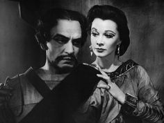 Photo by Angus Mcbean of Vivien Leigh and Larry Olivier in Macbeth, 1955.