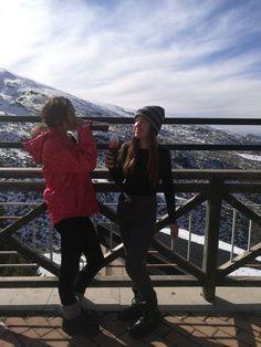 Foto tumblr en la nieve con amigas