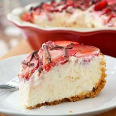 Strawberries and Cream Pie, I'm going to add crushed pineapple to cheese mixture maybe top with banana with the strawberries