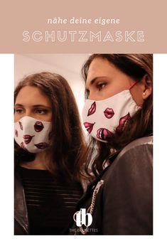 Schritt-für-Schritt Anleitung mit Schnittvorlage zum herunterladen, um deine eigenen Designer Nasen-Mund-Schutzmaske zu nähen. Plus kreative Ideen, um individuelle Masken zu erstellen. Fashion Beauty, Halloween Face Makeup, Brunettes, Designer, Instructions, Diy, Sewing, Simple, Protective Mask