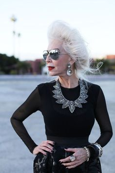 She is FABULOUS!! I will look like this when I am her age :)