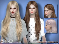 New braid for Anna hairstyles .  Found in TSR Category 'Sims 4 Female Hairstyles'