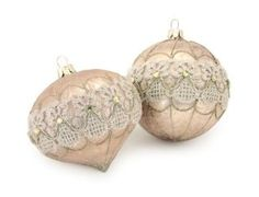 """Amazon.com: Club Pack of 12 Victorian Inspirations Champagne and Lace Christmas Ornaments 4"""": Home & Kitchen"""
