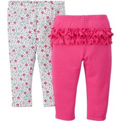 Child Of Mine Made By Carter's Newborn Baby Girl Pant, 2 Pack - Walmart.com