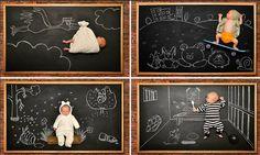 Baby's blackboard adventures