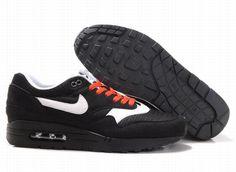 308866 018 Nike Air Max 1 Black Sail Red AMFM0710