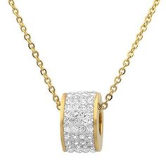 The stunning golden Nisa Necklace from Duval & Company is divine. Made from solid stainless steel with gold plating and crusted with. Latest Discoveries, Golden Necklace, Amazon Gifts, Diamond Are A Girls Best Friend, Cool Gifts, Colored Diamonds, Jewelery, Quicken Loans, Bling