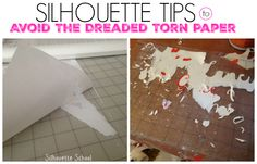Silhouette Troubleshooting Trick: Avoiding Torn Paper When Removing from Silhouette Cutting Mat