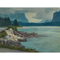Alan Collier - Around The Inlet Lutak Inlet Haines Alaska 12 x 16 Oil on board Canadian Artists, Over The Years, Alaska, Past, Painting, Oil, Board, Past Tense, Painting Art