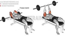 Isolate and build your triceps brachii using the lying barbell triceps extension, an isolation exercise. Keep your elbows close to your head. Best Chest Workout, Chest Workouts, Fitness Workouts, Bike Workouts, Swimming Workouts, Swimming Tips, Cycling Workout, Ultimate Ab Workout, Knee Exercises
