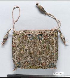 Purse | British | first quarter 17th century | silk | Metropolitan Museum of Art | Accession #: 64.101.1262