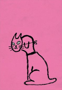 Cat dog illustration by Jean Jullien #illustration #drawing