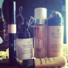 Best drugstore make up routine ( minus concealer) revlon photo ready primers, maybelline 24 hour make up mixed with revlon photo airbrush make up. And makeup forever concealer.