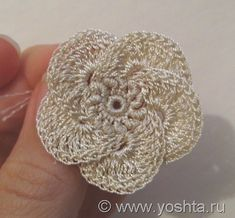 Irish crochet flower + tutorial