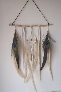 leather and lace a bohemian dream catcher // wall by SpiritTribe, $53.00