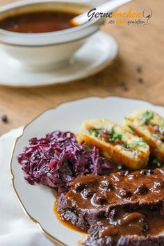 """Sauerbraten rheinische Art"" - My list of the most healthy recipes Barbecue Recipes, Pork Recipes, Slow Cooker Recipes, Gourmet Recipes, Pasta Recipes, Vegetarian Recipes, Healthy Recipes, Easy German Recipes, Best Dishes"