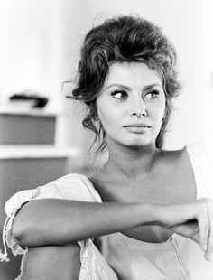Sophia Loren behind the scenes of Madame Sans-Gêne, 1961. Photo by Alfred…